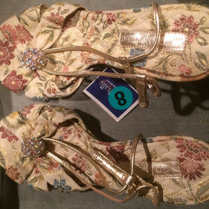 Enzo Angiolini Tapestry High Heel Sandals Size 8M